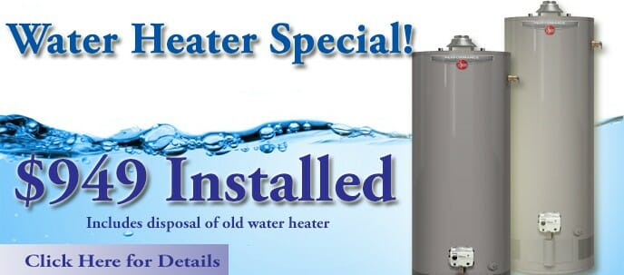 Water Heater Install Special